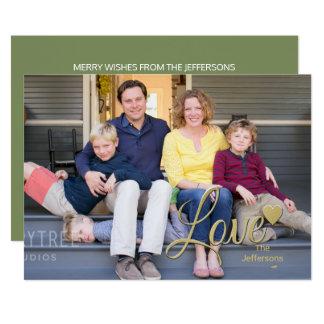 Amor com a foto dos cartões de natal do coração
