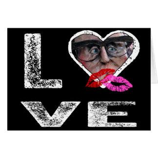 AMOR com beijos - modelo da foto Cartoes