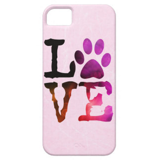 Amor, com capa de telefone cor-de-rosa & roxa do