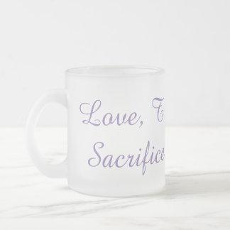 Amor, confiança, serviço, sacrifício, caneca da