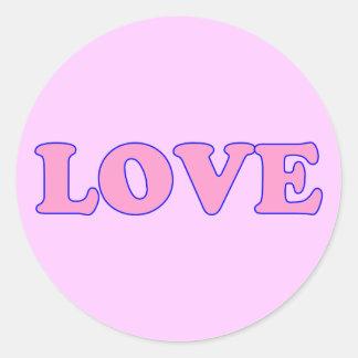 Amor cor-de-rosa adesivo