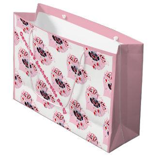 Amor cor-de-rosa Bachelorette de Las Vegas Sacola Para Presentes Grande