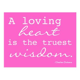 Amor, coração, sabedoria - cartão inspirado