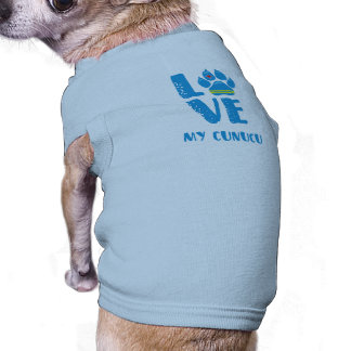 AMOR CUNUCU (letras azuis) - camiseta de cão