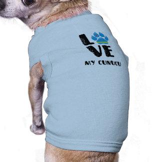 AMOR CUNUCU (letras pretas) - camiseta de cão