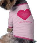 Amor customizável bonito de I meus corações do ros Roupa Pet