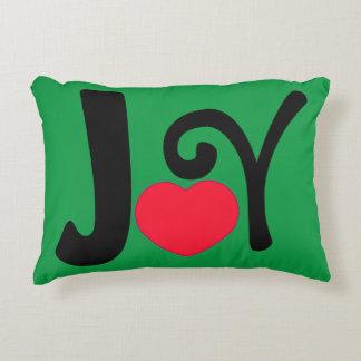 Amor da alegria do feriado do Natal Almofada Decorativa