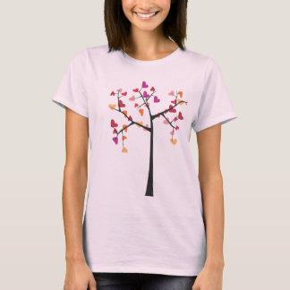 Amor da árvore camiseta