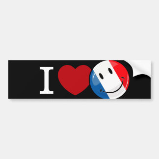 Amor da bandeira de sorriso de France Adesivo Para Carro