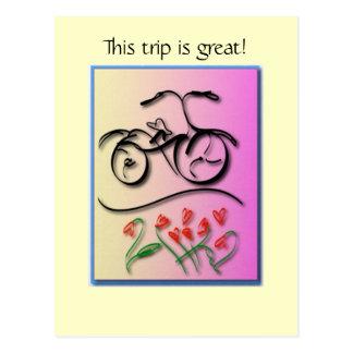 Amor da bicicleta cartão postal