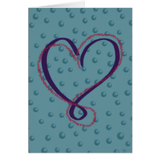 Amor da bolha: cartão vazio