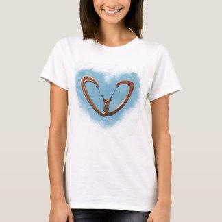 Amor da escalada camiseta
