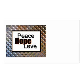 amor da esperança da paz cartão de visita