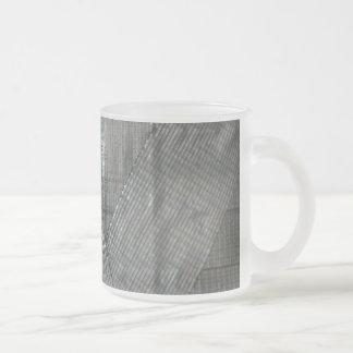 Amor da fita adesiva caneca de café vidro jateado