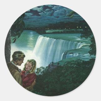 Amor da lua de mel do vintage, Newlyweds em Adesivo