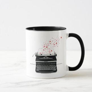 Amor da máquina de escrever - caneca