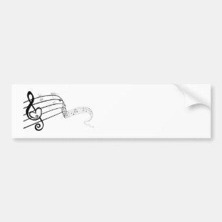 Amor da música adesivo para carro
