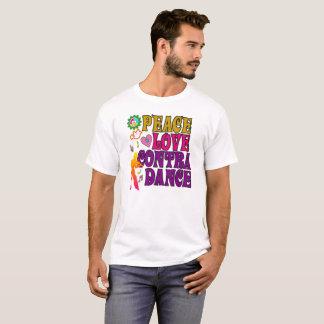 Amor da paz & contra a dança camiseta