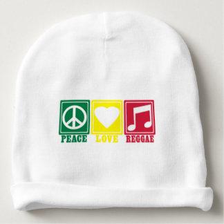 amor da paz da reggae do rasta gorro para bebê