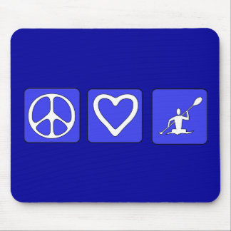 Amor da paz que Kayaking Mouse Pad