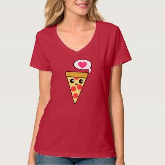 Amor da pizza camiseta