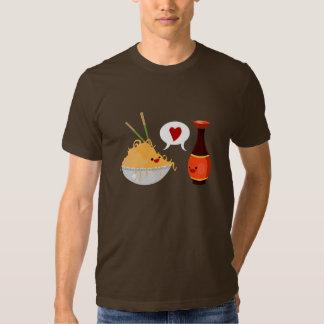 Amor da soja camisetas