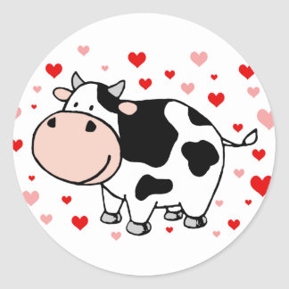 Amor da vaca adesivo