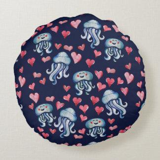 Amor das medusa almofada redonda