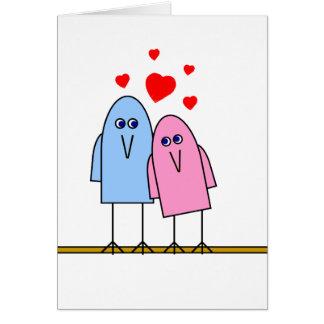 Amor de Birdy Cartão