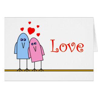 Amor de Birdy Cartão Comemorativo