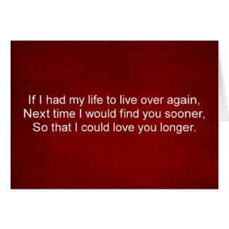 Amor de meu cartão das citações do amor do dia dos