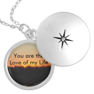 Amor de meu Locket da vida Colar Medalhão