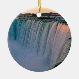 Amor de queda Niagara Ontário Canadá da cachoeira Ornamento De Cerâmica Redondo