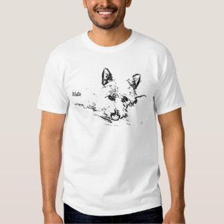 Amor de Westies, desenho preto e branco Tshirts