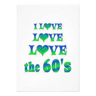 Amor do amor os anos 60 convites personalizado