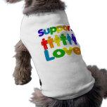 Amor do apoio camisa sem mangas para cachorro