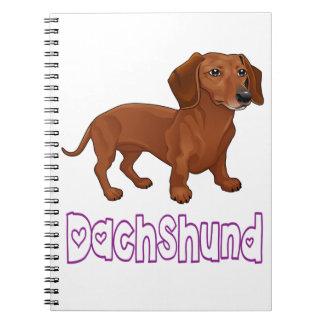 Amor do azul do cão de filhote de cachorro do cadernos
