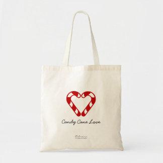 Amor do bastão de doces bolsas de lona