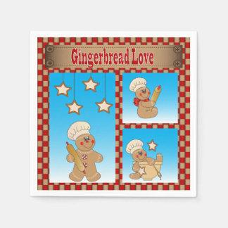 Amor do biscoito do pão-de-espécie do Natal Guardanapo De Papel
