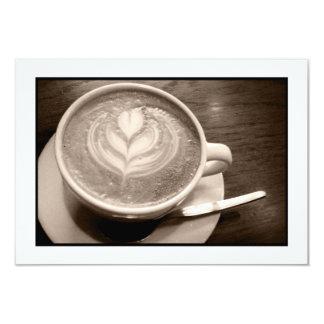amor do café convite 8.89 x 12.7cm