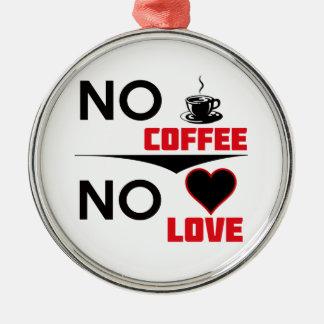 amor do café ornamento de metal