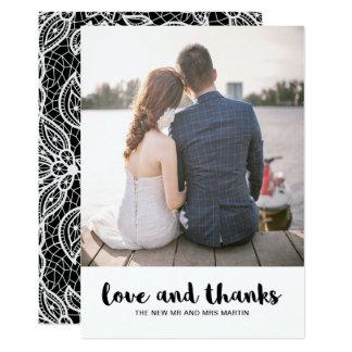Amor do casamento do olhar do laço e foto dos convite 12.7 x 17.78cm