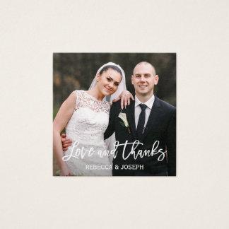 Amor do casamento e cartões de agradecimentos da