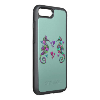 Amor do cavalo de mar capa para iPhone 7 plus OtterBox symmetry