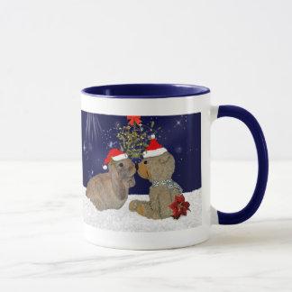 Amor do coelho na caneca do Natal