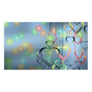 Amor do coração cartões de visitas