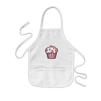 Amor do cupcake avental infantil