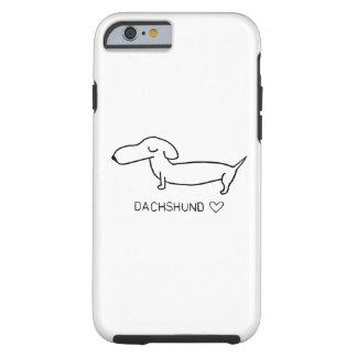 Amor do Dachshund Capa Tough Para iPhone 6