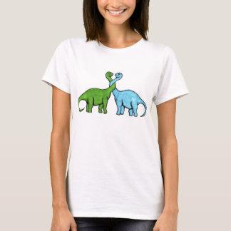 Amor do dinossauro camiseta