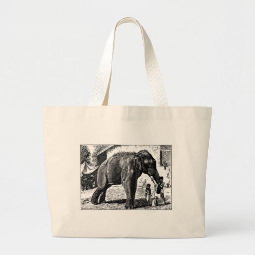 Amor do elefante bolsa de lona